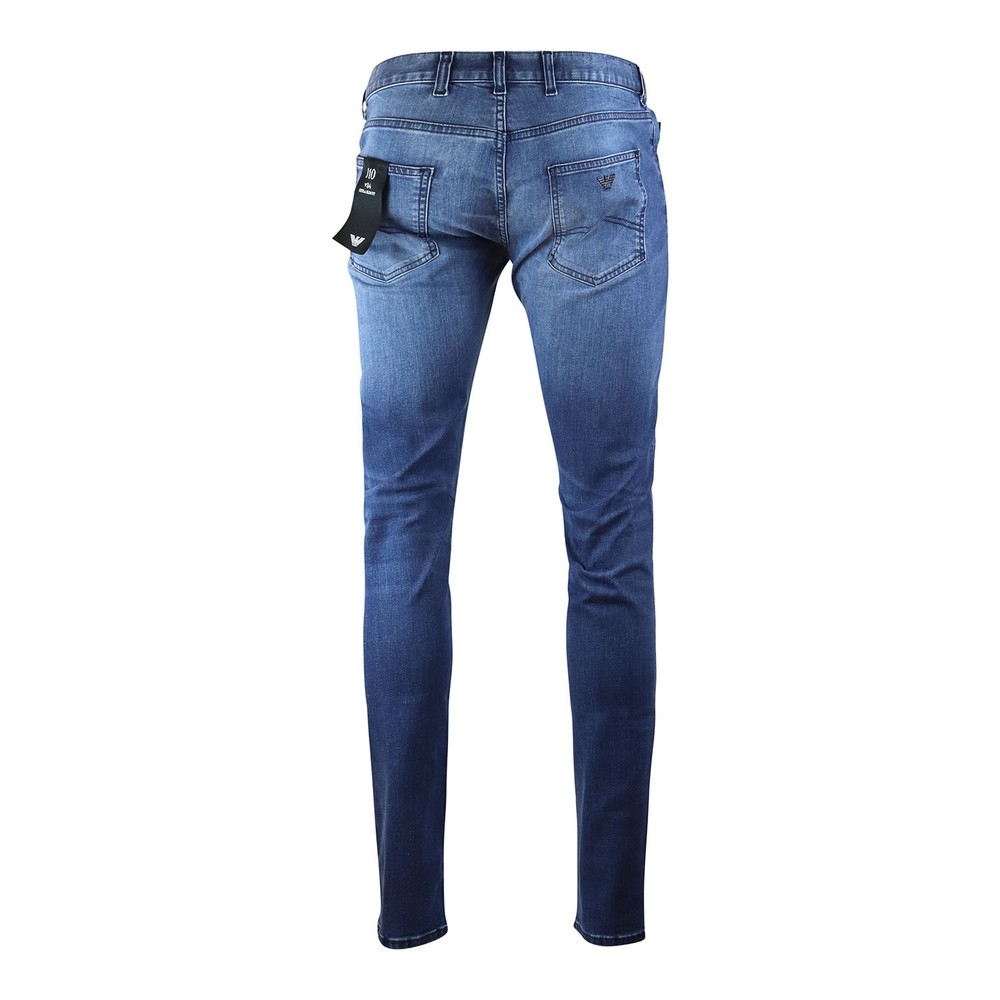 Emporio Armani J10 Extra Slim Fit Jeans Mid Wash Denim