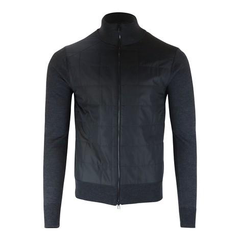 Belstaff New Kelby Zip Merino Cardigan in Black