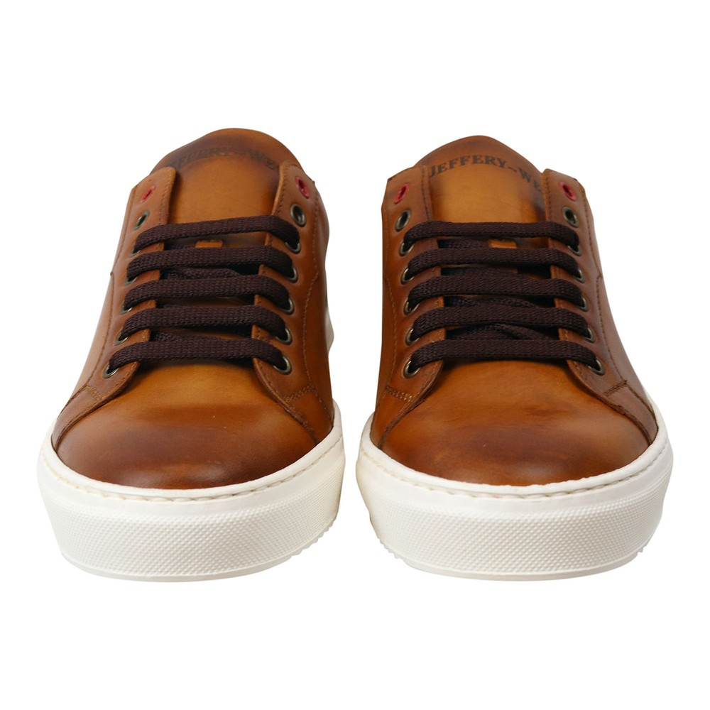 Jeffery West Apolo Leather Trainer Caramel