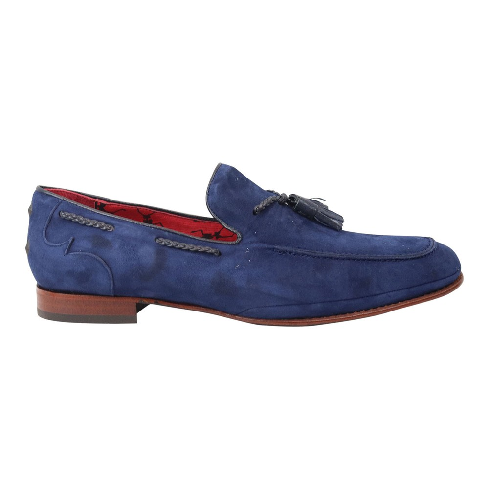 Jeffery West Martini Suede Loafer Blue