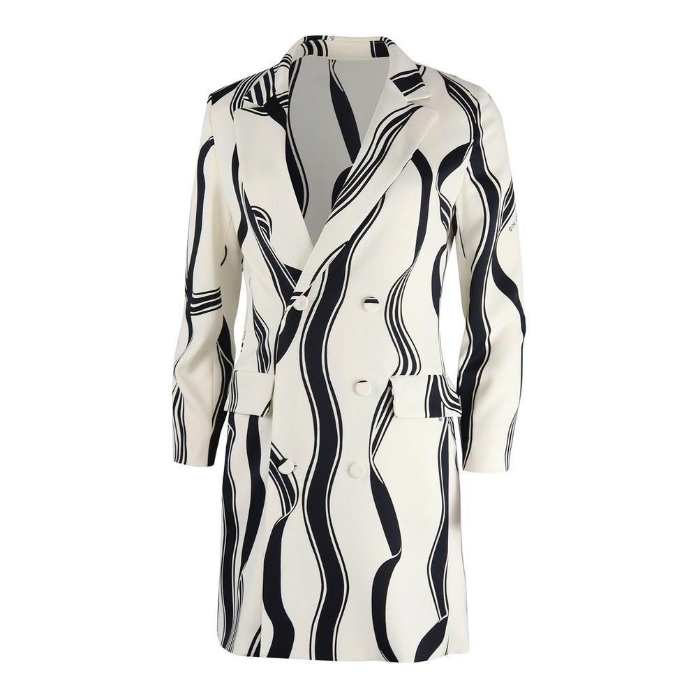 Marella Noemi Patterned Coat Dress Black & White