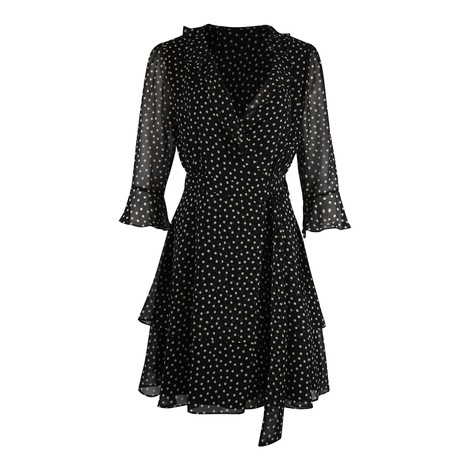 Marella Ikebana Spotted Wrap Dress