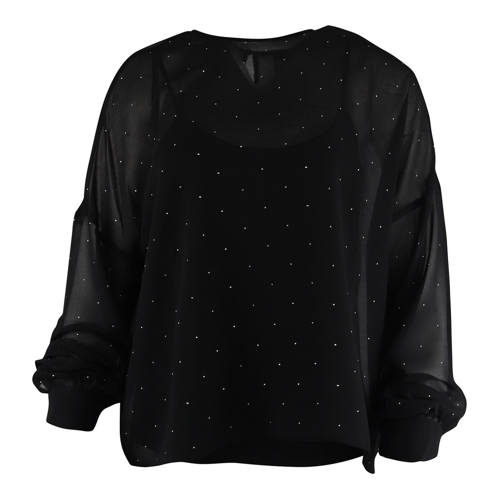 Marella Lessy Sparkle Blouse Black