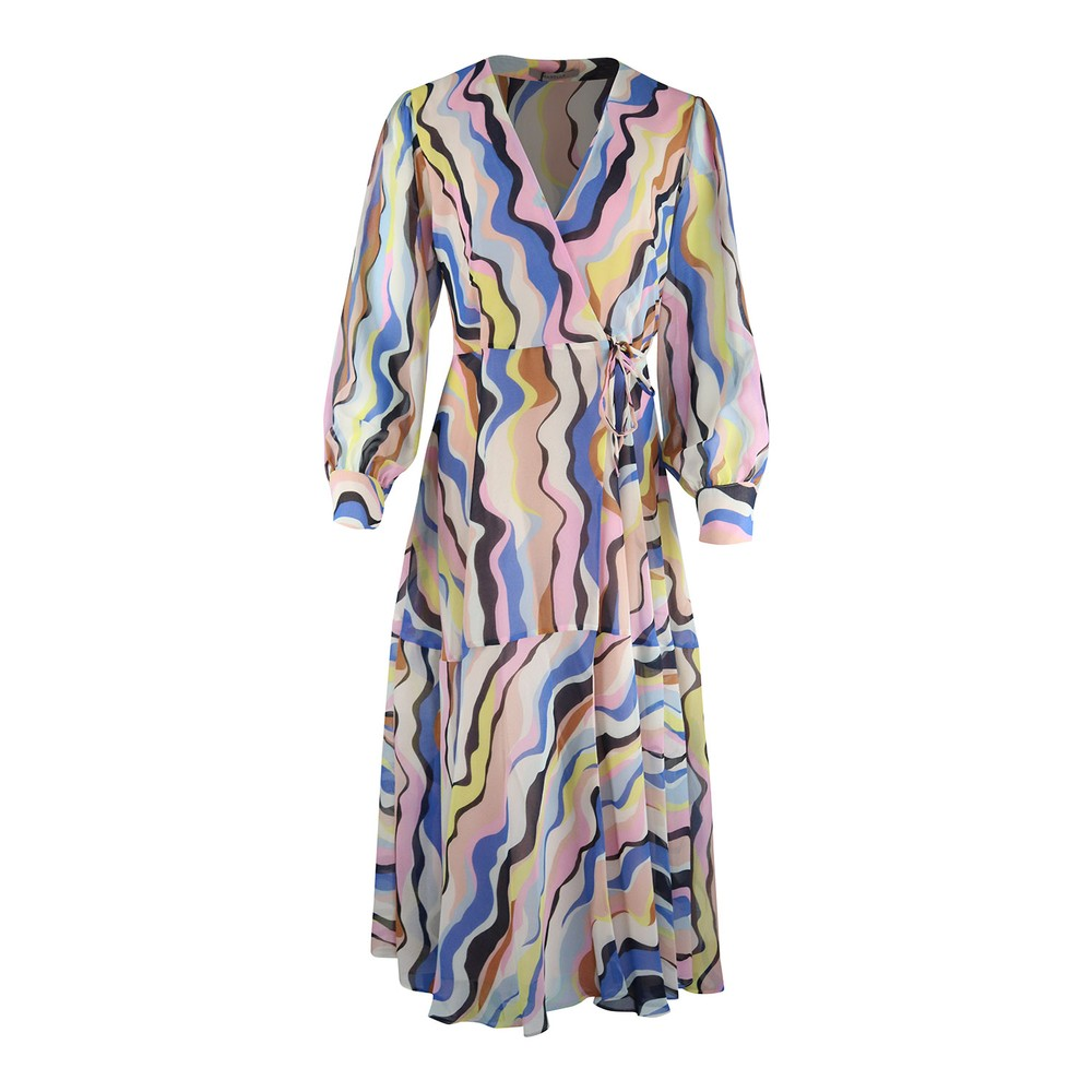 Marella Oggi Midi Swirl Dress Multi