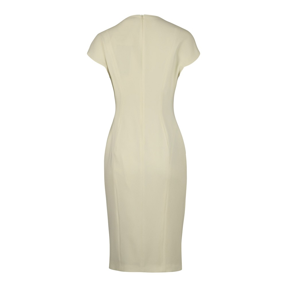 Maxmara Parola Fitted Dress Lemon