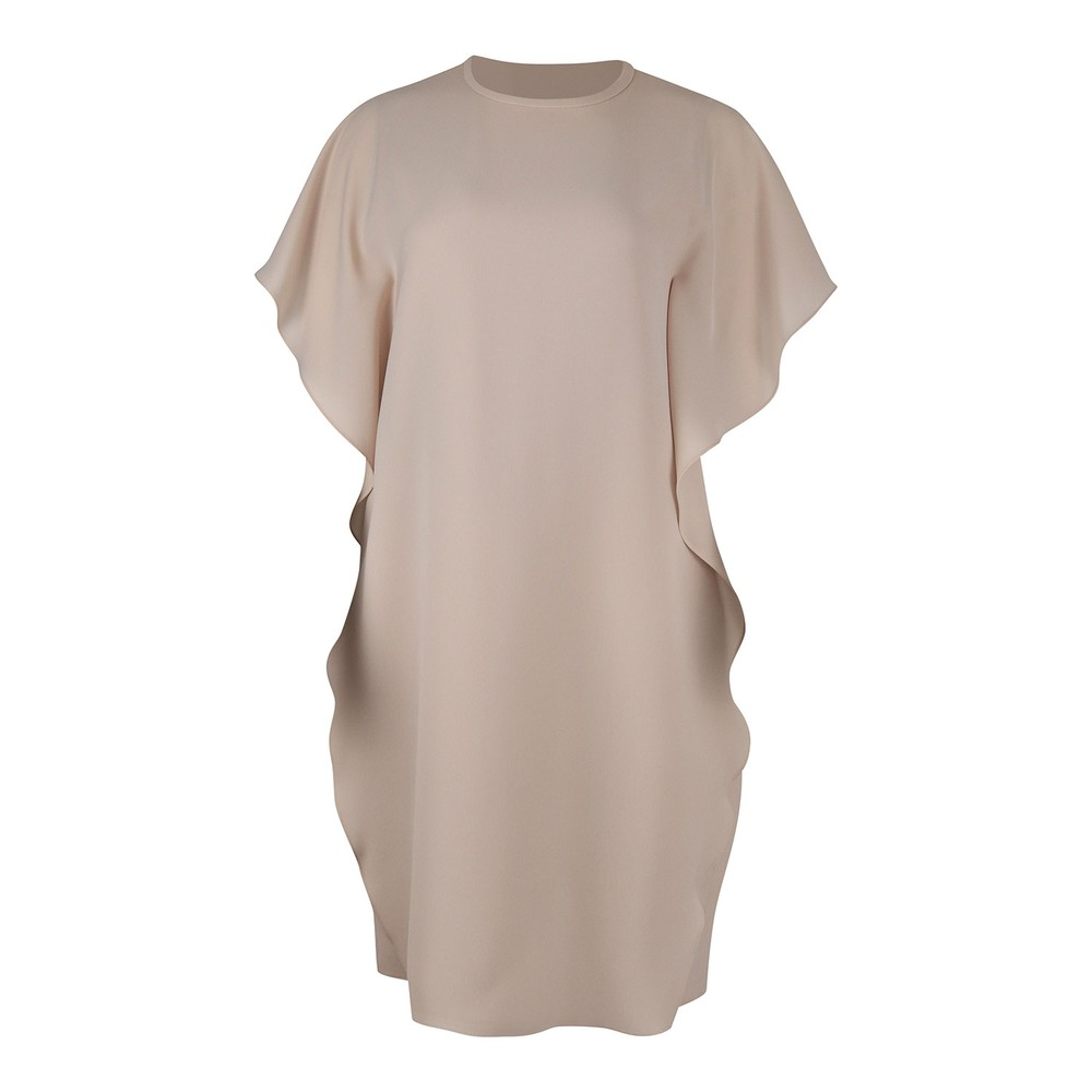 Maxmara Dalida Tunic Frilled Dress Nude