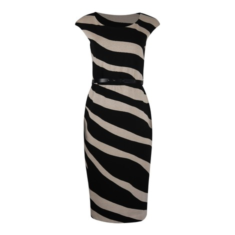 Maxmara Blasone Zebra Jersey Dress
