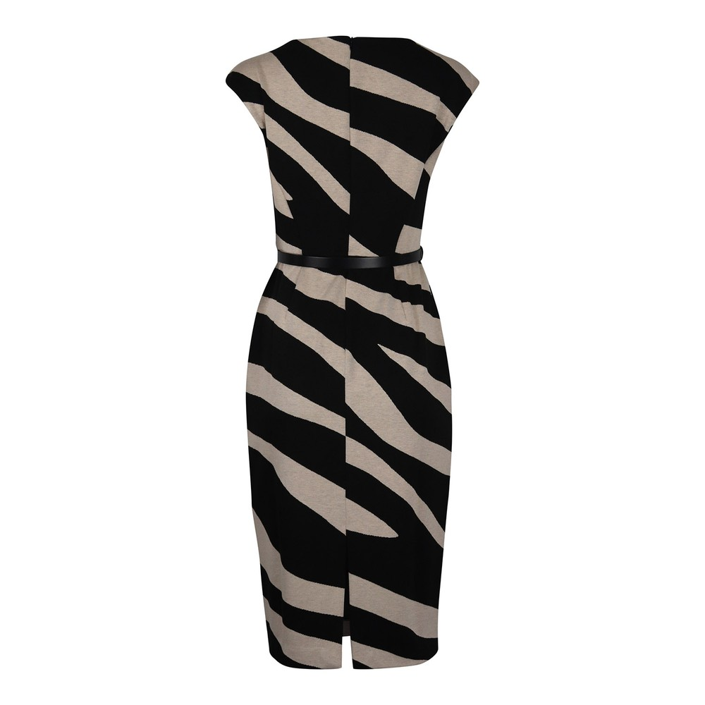 Maxmara Blasone Zebra Jersey Dress Black & White