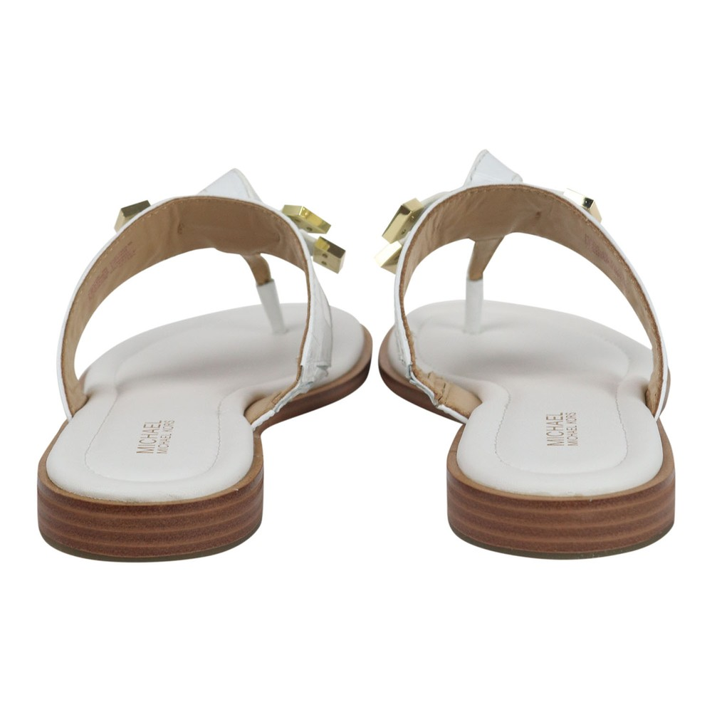 Michael Kors Ripley Leather Thong Slide White