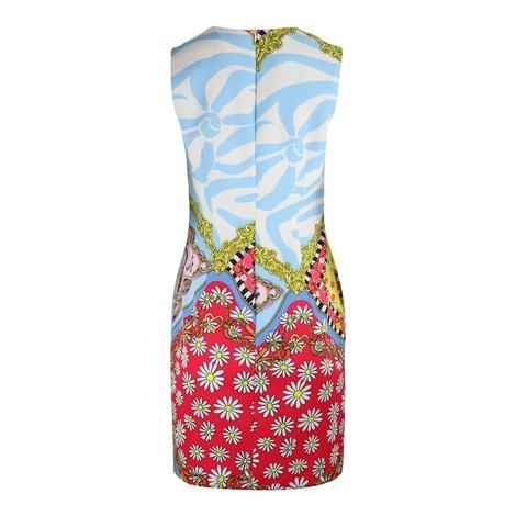 Moschino Boutique Sleeveless Scarf Print Shift Dress