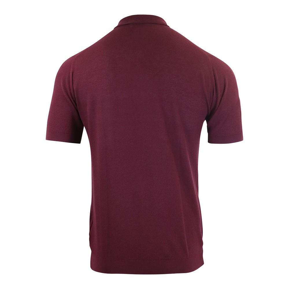 John Smedley Roth Pique Polo Shirt Plum