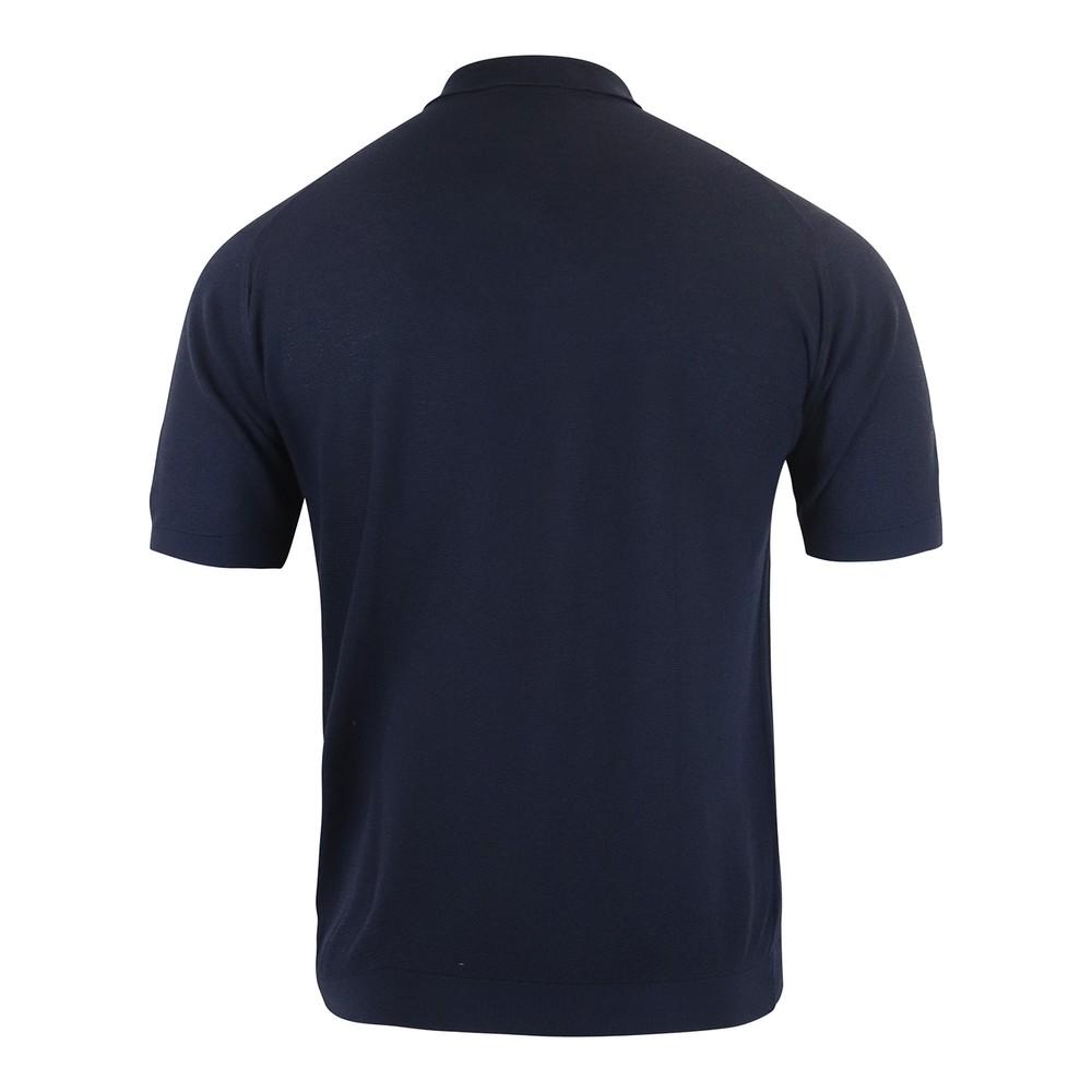 John Smedley Roth Pique Polo Shirt Navy