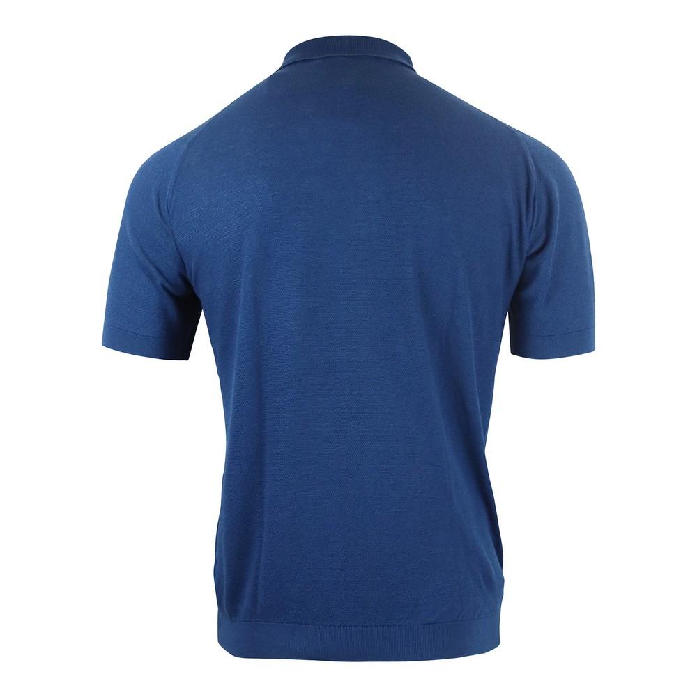 John Smedley Roth Pique Polo Shirt Royal Blue