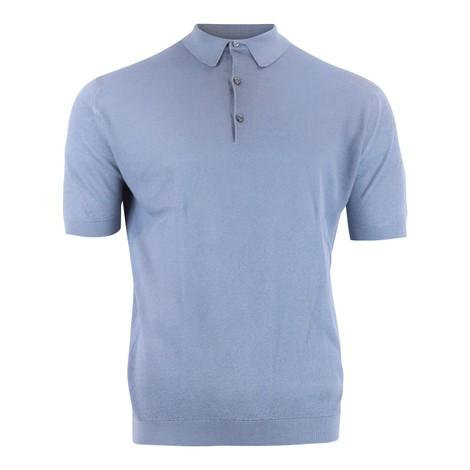 John Smedley Roth Pique Polo Shirt in Grey