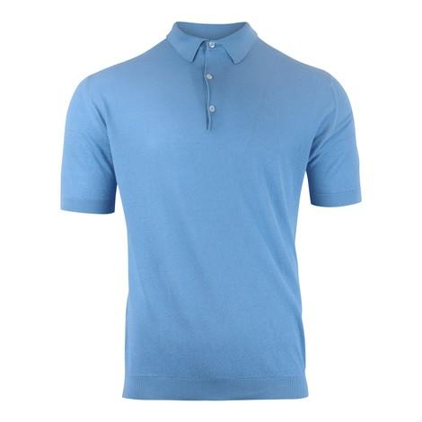 John Smedley Roth Pique Polo Shirt in Indigo