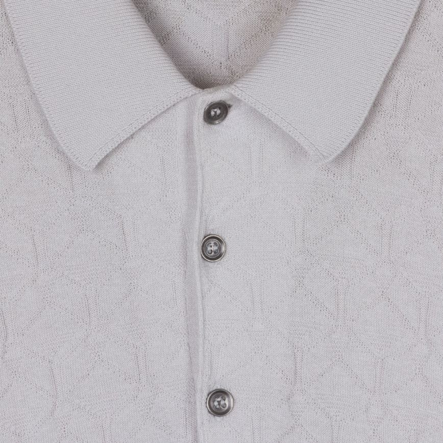 John Smedley Forestry Textured Shirt Grey