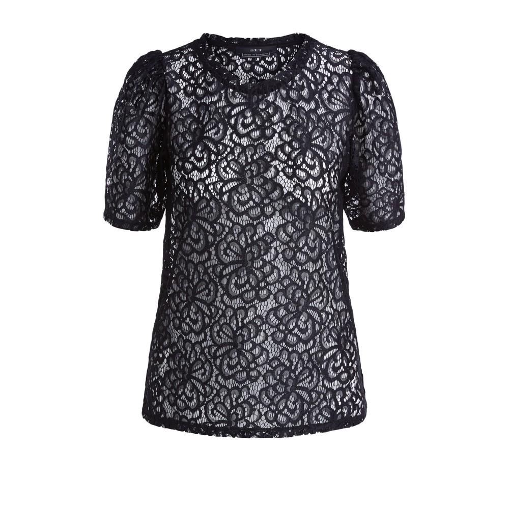 Set Lace Shirt Black