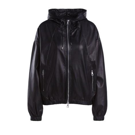Set Oversized Leather Hoodie