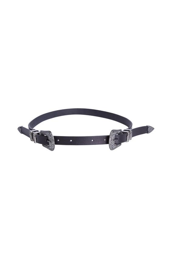 Set Western Waist Belt Black