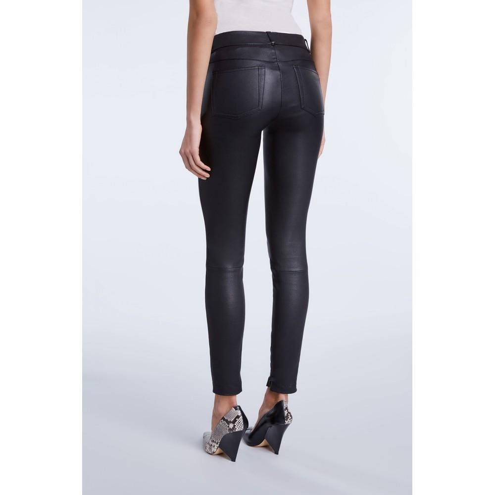 Set Dakota Leather Trousers Black