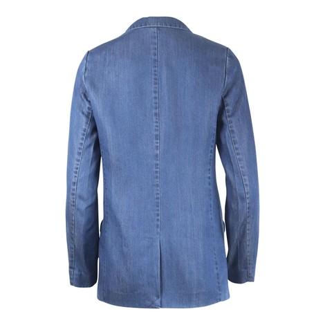 Scotch & Soda Ams Blauw Chic Denim Tencel Blazer