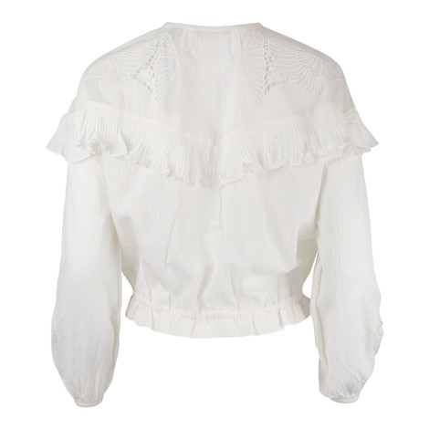 Scotch & Soda Loose Shirt With Lace And Sport Detailing