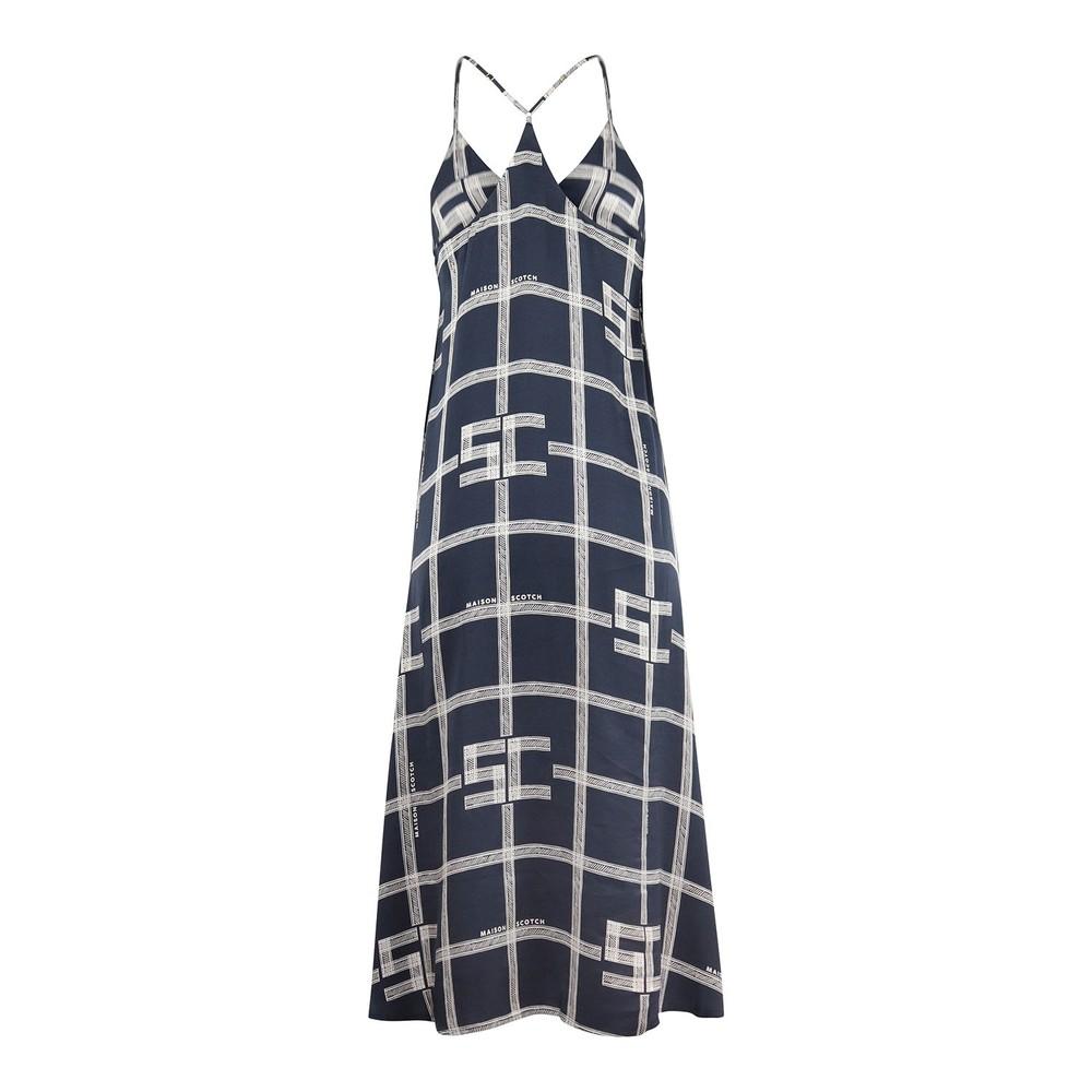 Scotch & Soda Allover Printed Slip Dress Navy