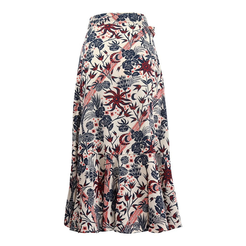 Scotch & Soda Midi Allover Printed Wrap Skirt Floral