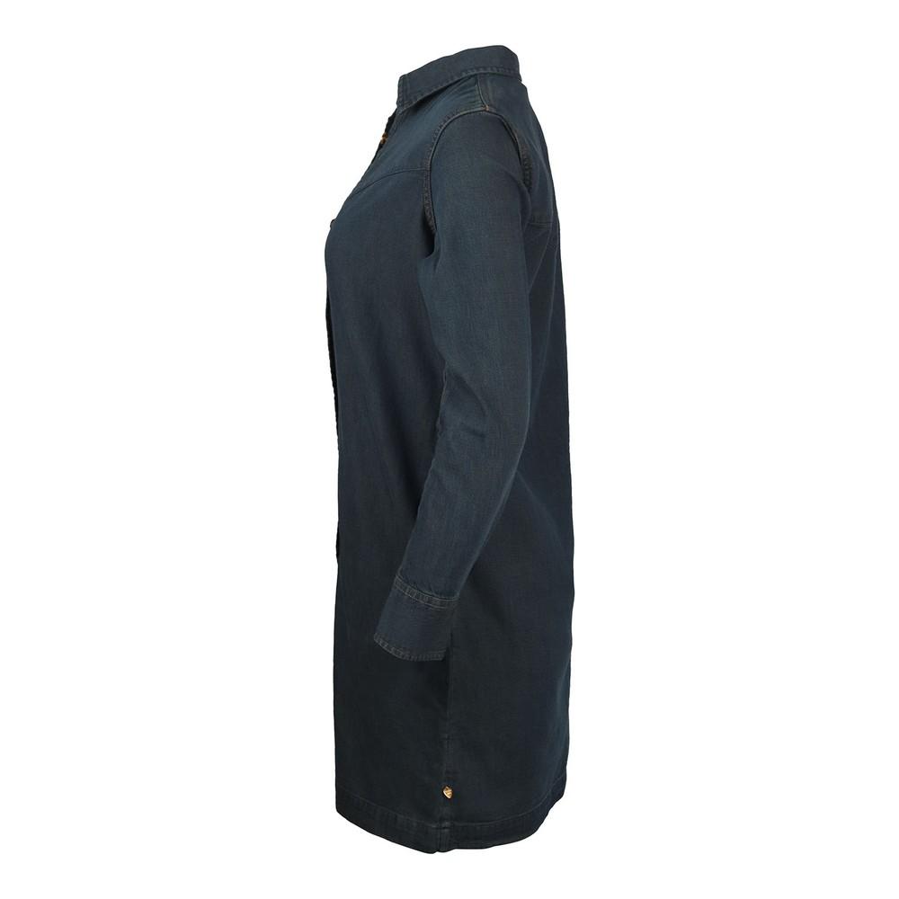 Scotch & Soda Ams Blauw Denim Shirt Dress Dark Denim