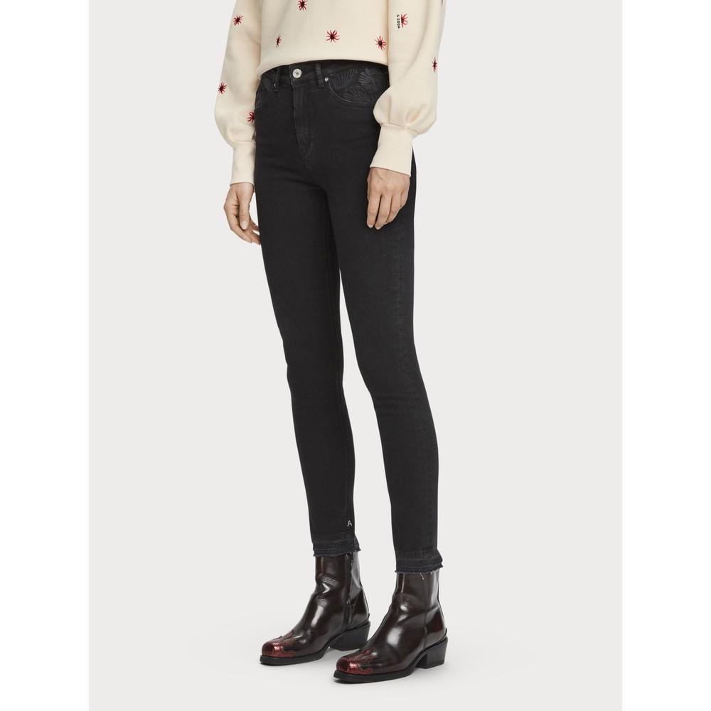 Scotch & Soda Haut - Elegant High-Rise Skinny Fit Jeans Black