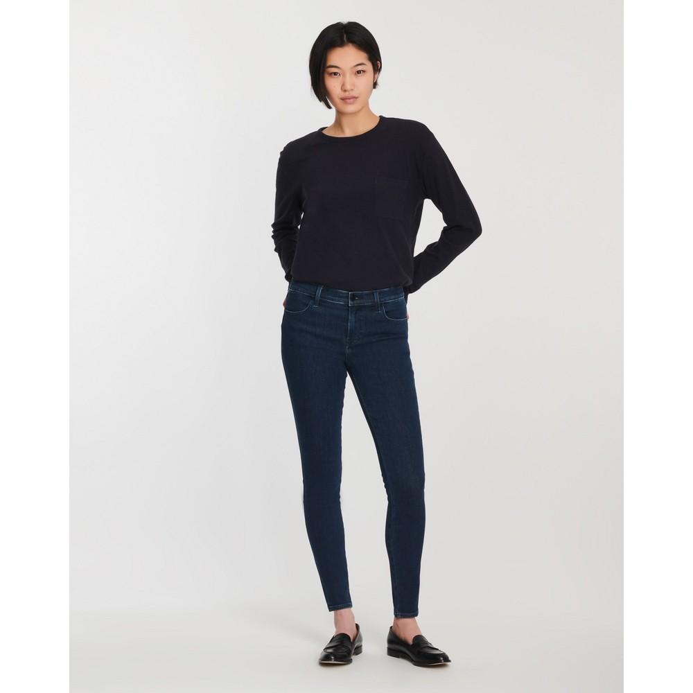 J Brand Sophia Mid-Rise Skinny Jeans Dark Navy