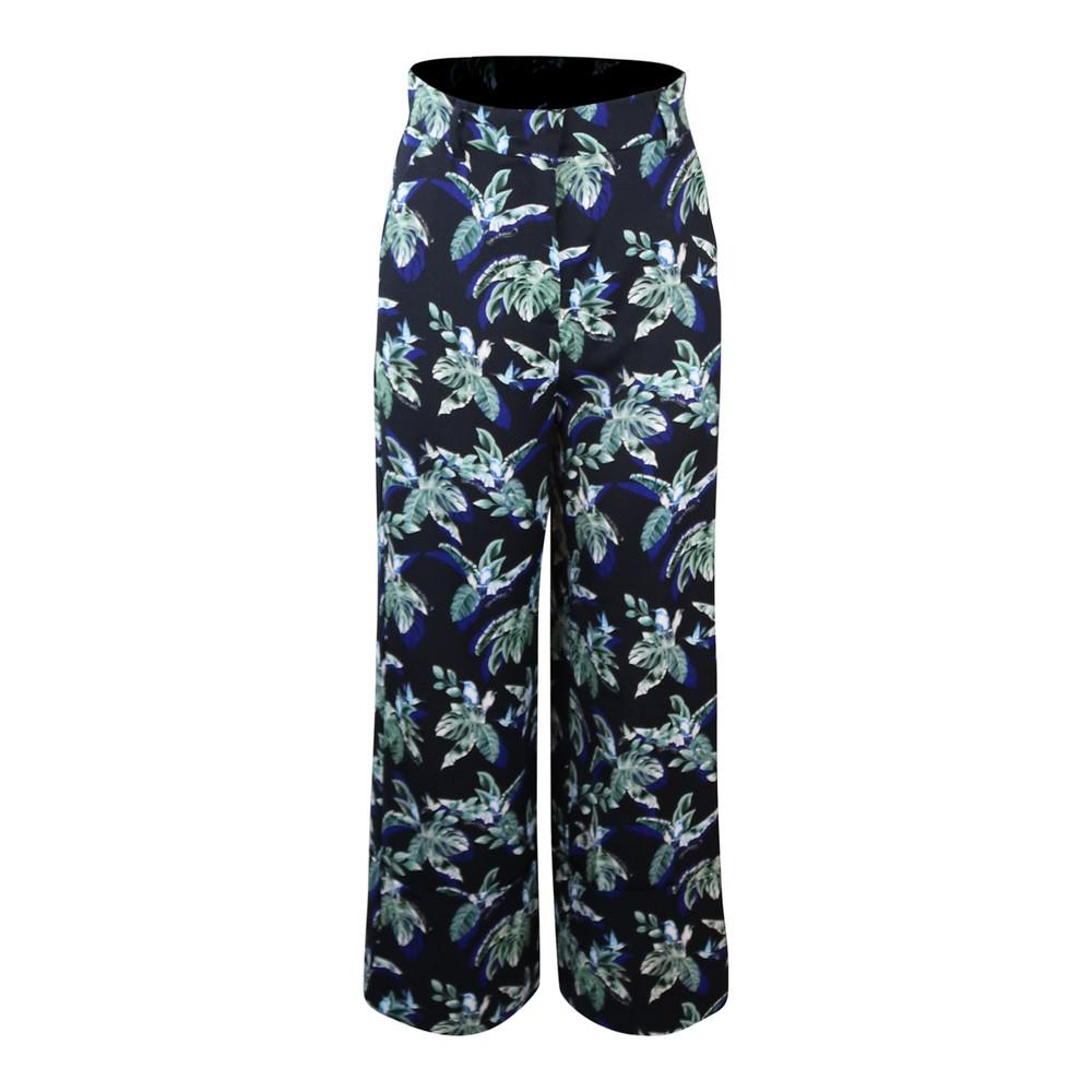 Marella Patterned Floral Trouser Black