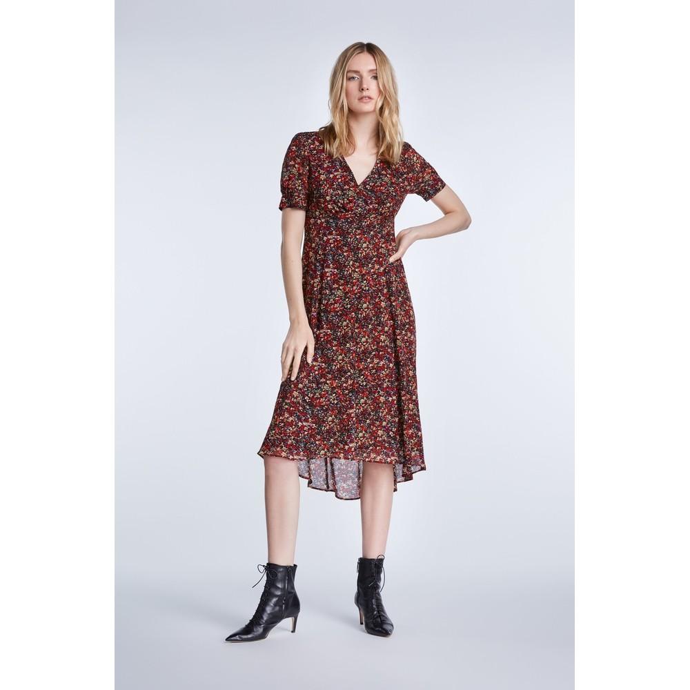 Set Midi Dress In Millefleurs Design Multi