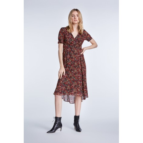 Set Midi Dress In Millefleurs Design