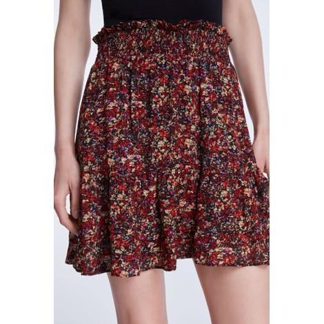 Set Miniskirt With Rocky Millefleurs Print