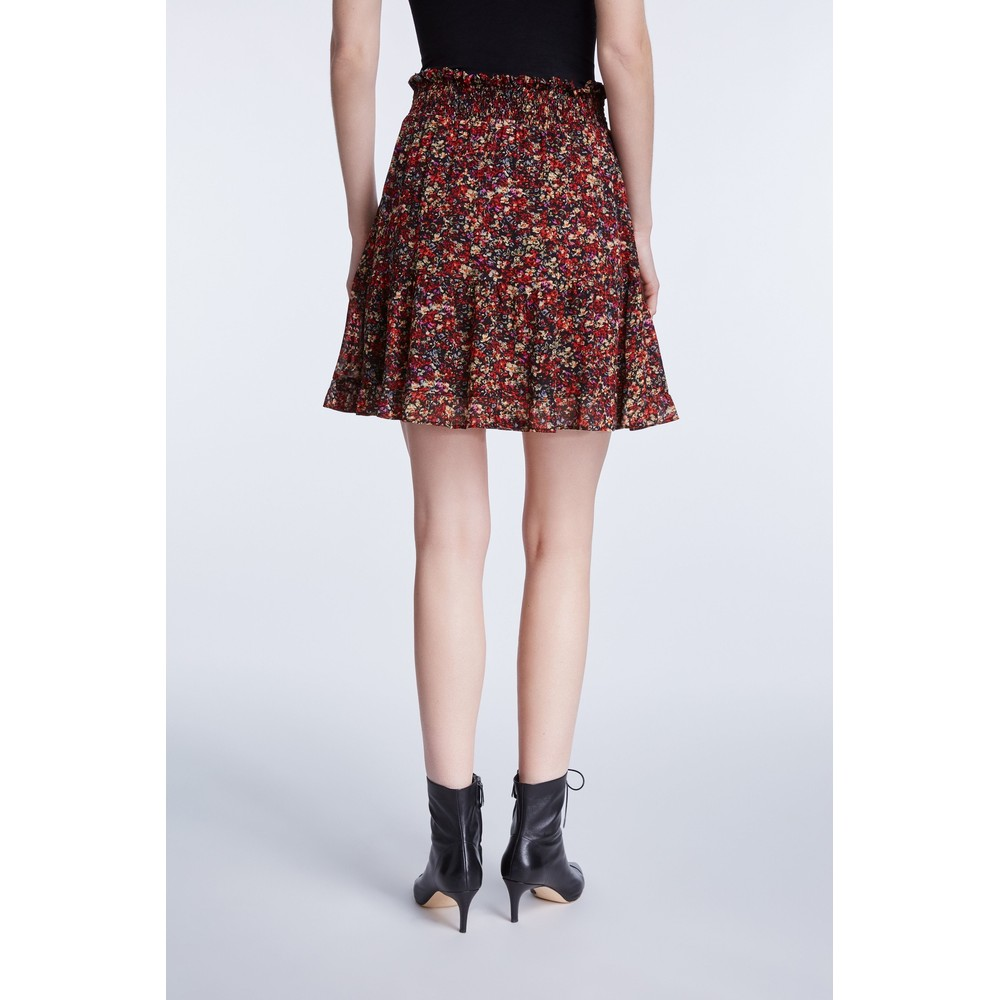 Set Miniskirt With Rocky Millefleurs Print Multi