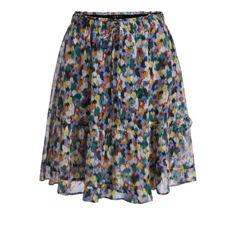 Set Blossom Print Step Skirt