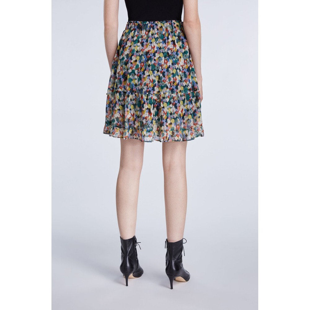 Set Blossom Print Step Skirt Multi