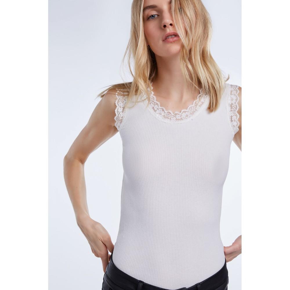 Set Laced Vest Top White