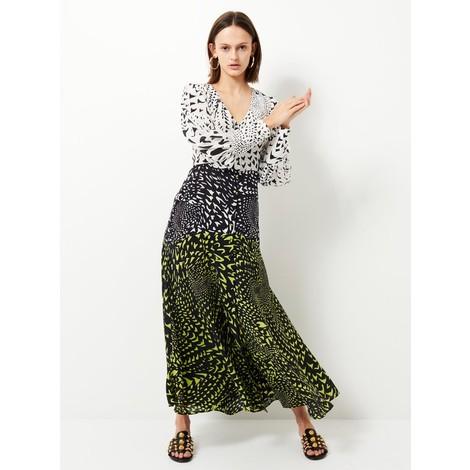 Hayley Menzies Midaxi Panel Dress Silk Wings Mix