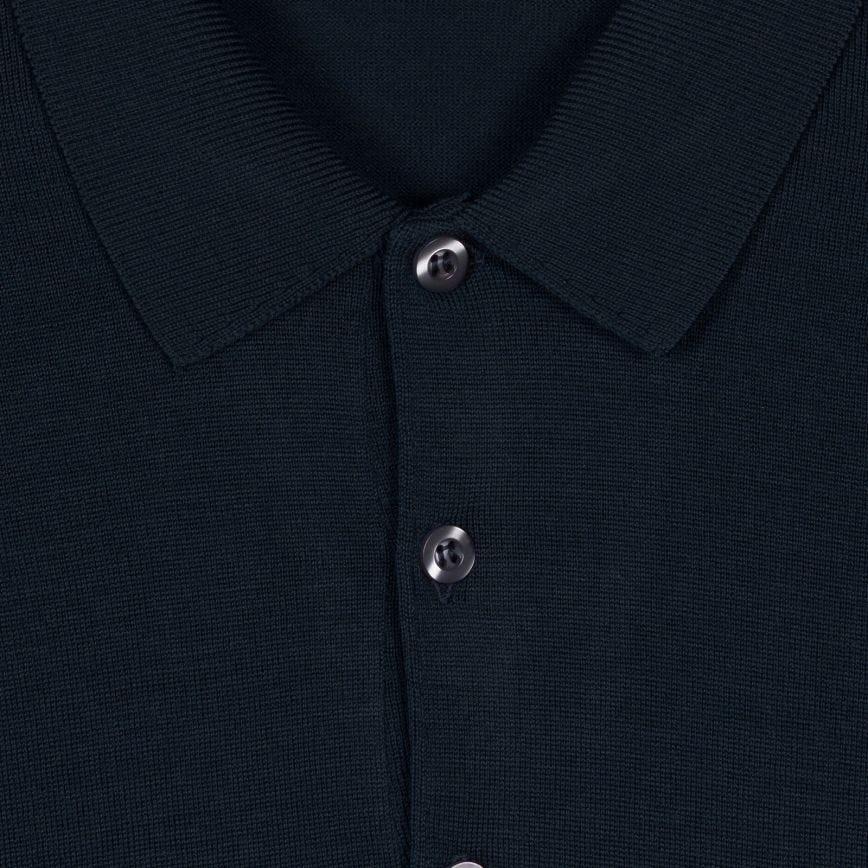 John Smedley Belper Long Sleeve Polo Shirt Teal