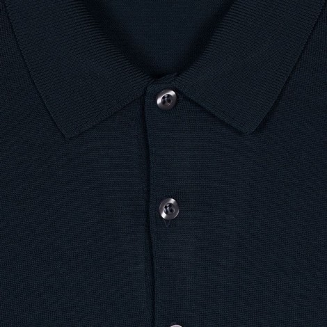 John Smedley Belper Long Sleeve Polo Shirt