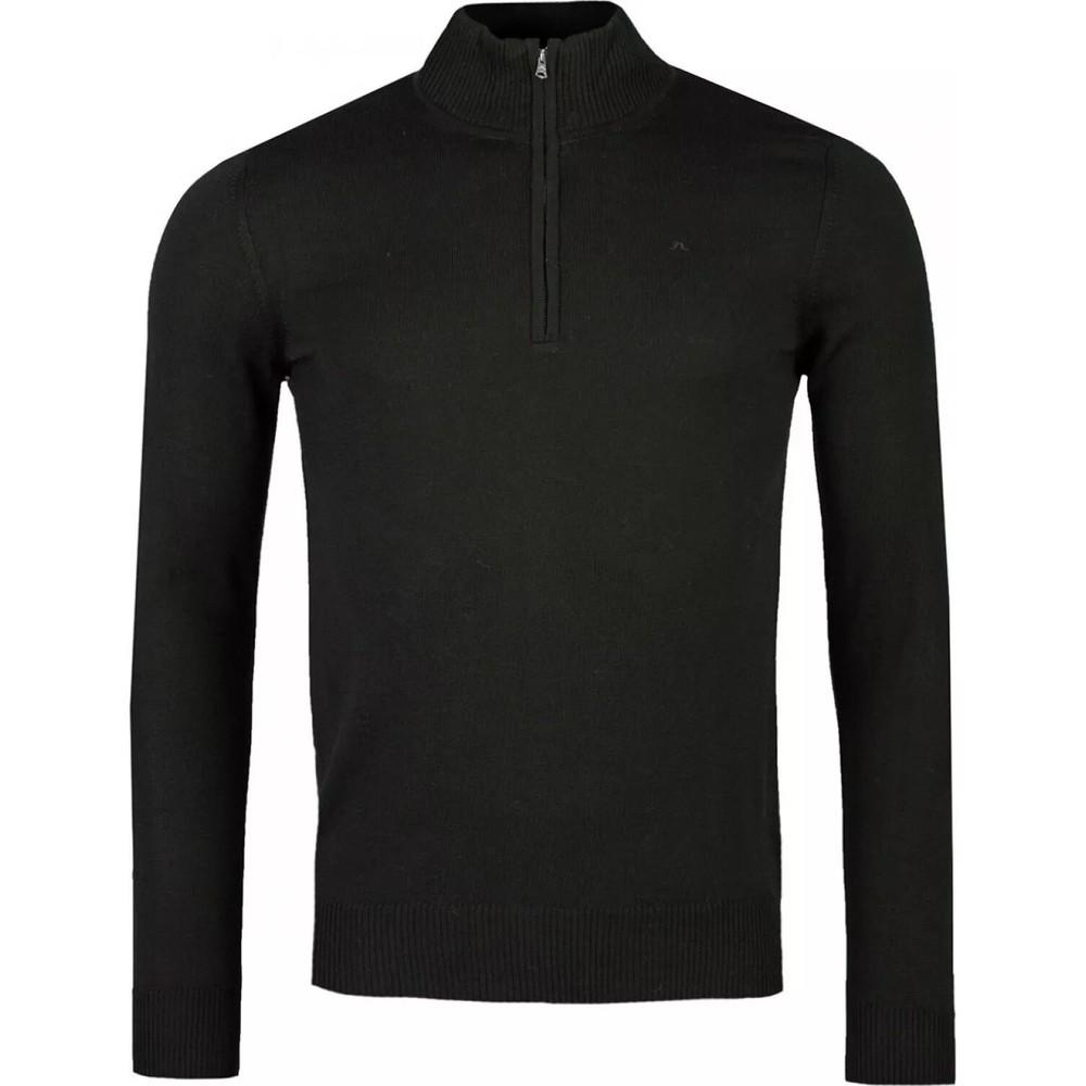 J.Lindeberg Lane Merino Quarter Zip Sweater Green