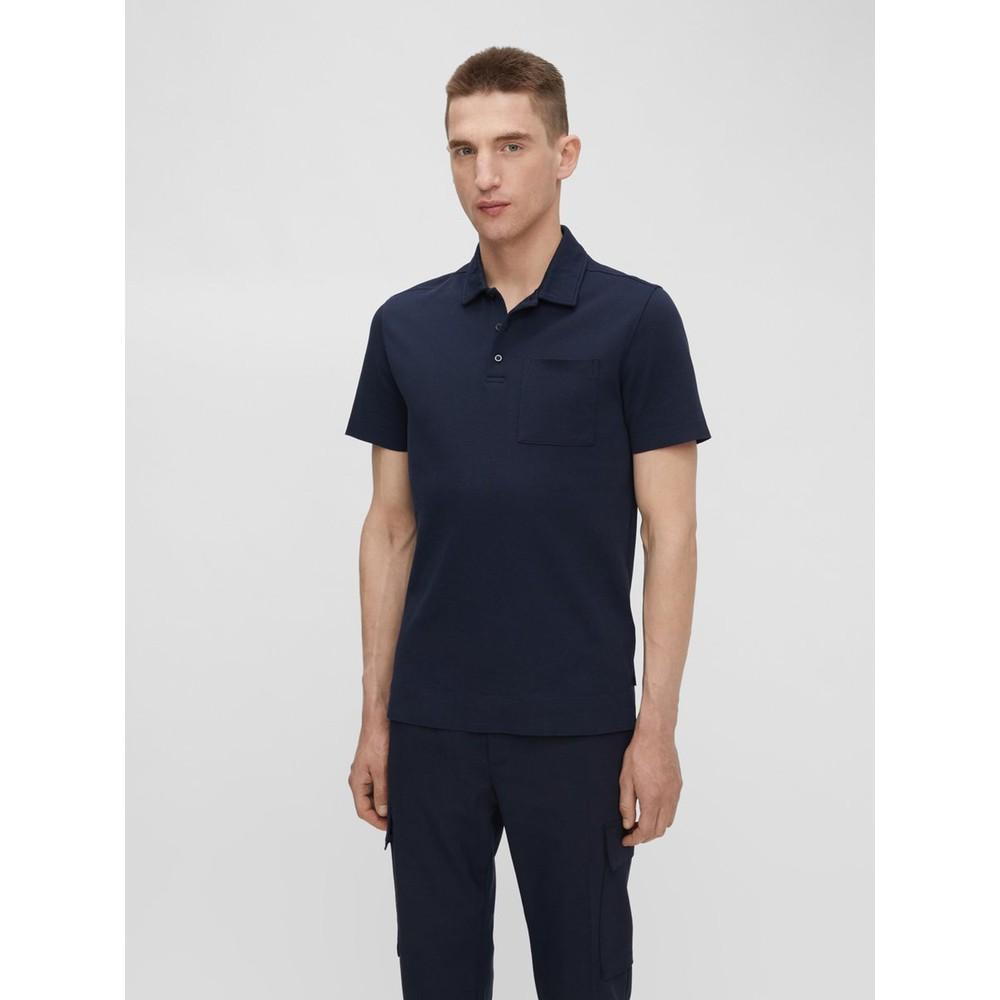 J.Lindeberg Dax Patch Pocket Polo Shirt Navy