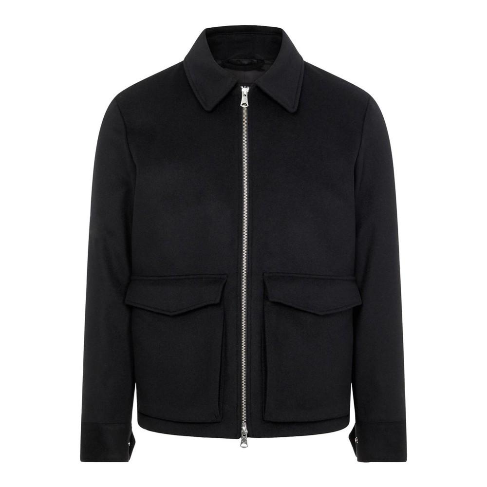 J.Lindeberg Ram Wool Shirt Jacket Black