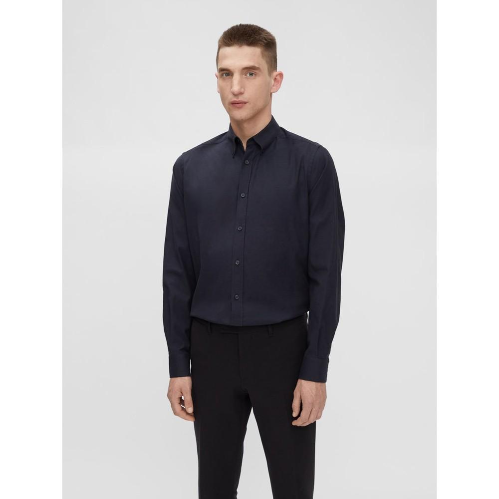 J.Lindeberg Stretch Oxford Slim Shirt Navy