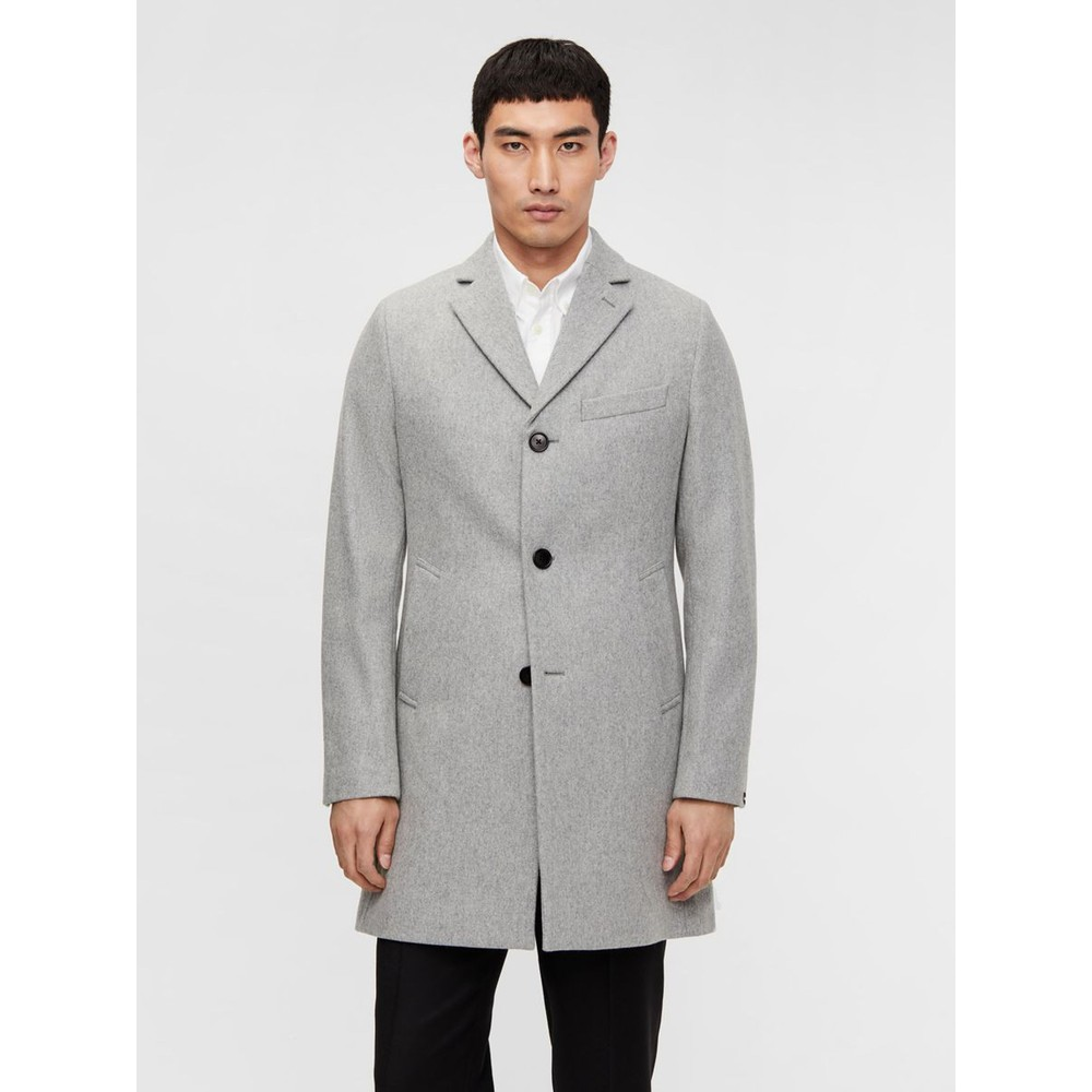 J.Lindeberg Wolger Compact Melton Coat Grey