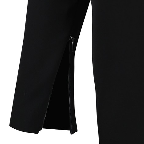 Moschino Boutique Long Sleeve Black Dress With Eyelet Detail