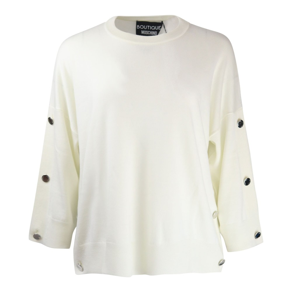 Moschino Boutique Knit Loose Fit Cream