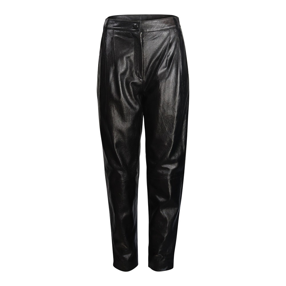 Moschino Boutique Leather Carrot Leg Trouser Black